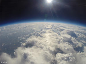 Meteorológiai ballonok az égen