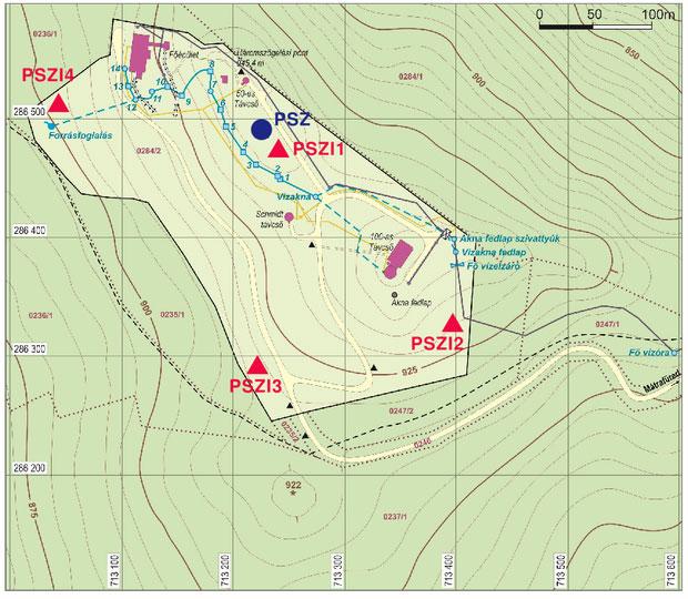 Piszkéstető térképe